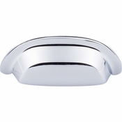 """Top Knobs - Aspen II Collection - Aspen II Cup Pull 3"""" (c-c) - Polished Chrome - M2003"""