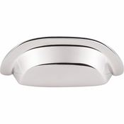 "Top Knobs - Aspen II Collection - Aspen II Cup Pull 3"" (c-c) - Polished Nickel - M2004"