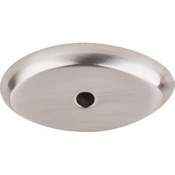 "Top Knobs - Aspen II Collection - Aspen II Oval Backplate 1 1/2"" - Brushed Satin Nickel - M2011"