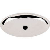 "Top Knobs - Aspen II Collection - Aspen II Oval Backplate 1 3/4"" - Polished Nickel - M2016"