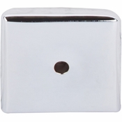 """Top Knobs - Aspen II Collection - Aspen II Square  Backplate 1 1/4"""" - Polished Chrome - M2021"""