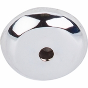 """Top Knobs - Aspen II Collection - Aspen II Round Backplate 7/8"""" - Polished Chrome - M2024"""