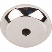 "Top Knobs - Aspen II Collection - Aspen II Round Backplate 7/8"" - Polished Nickel - M2025"