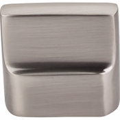 "Top Knobs - Aspen II Collection - Aspen II Flat Sided Knob 7/8"" (c-c) - Brushed Satin Nickel - M2050"