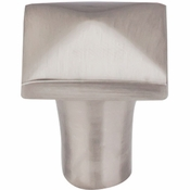 "Top Knobs - Aspen II Collection - Aspen II Square Knob 7/8"" - Brushed Satin Nickel - M2056"
