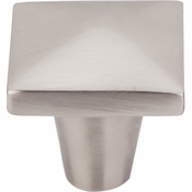 "Top Knobs - Aspen II Collection - Aspen II Square Knob 1 1/4"" - Brushed Satin Nickel - M2059"