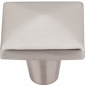 "Top Knobs - Aspen II Collection - Aspen II Square Knob 1 1/2"" - Brushed Satin Nickel - M2062"