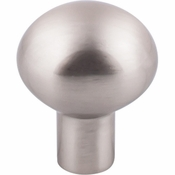 "Top Knobs - Aspen II Collection - Aspen II Small Egg Knob 1 3/16"" - Brushed Satin Nickel - M2065"