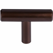 "Top Knobs - Bar Pulls Collection - Hopewell T-Handle 2"" - Oil Rubbed Bronze - M1886"