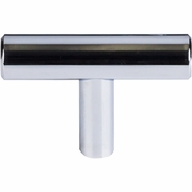 """Top Knobs - Bar Pulls Collection - Hopewell T-Handle 2"""" - Polished Chrome - M1887"""
