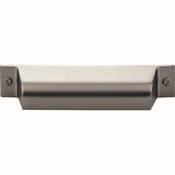 Top Knobs - Barrington Collection - Channing Cup Pull 3 3/4 Inch (c-c) - Ash Gray - TK773AG
