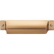 Top Knobs - Barrington Collection - Channing Cup Pull 3 3/4 Inch (c-c) - Honey Bronze - TK773HB