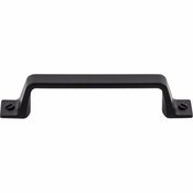 "Top Knobs - Barrington Collection - Channing Pull 3 3/4"" (c-c) - Flat Black - TK743BLK"