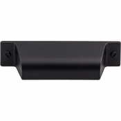 "Top Knobs - Barrington Collection - Channing Cup Pull 2 3/4"" (c-c) - Flat Black - TK772BLK"