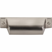 "Top Knobs - Barrington Collection - Channing Cup Pull 2 3/4"" (c-c) - Brushed Satin Nickel - TK772BSN"