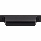 "Top Knobs - Barrington Collection - Channing Cup Pull 3 3/4"" (c-c) - Flat Black - TK773BLK"