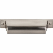 "Top Knobs - Barrington Collection - Channing Cup Pull 3 3/4"" (c-c) - Brushed Satin Nickel - TK773BSN"