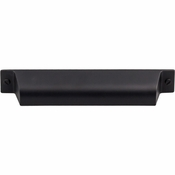 "Top Knobs - Barrington Collection - Channing Cup Pull 5"" (c-c) - Flat Black - TK774BLK"