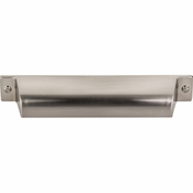 "Top Knobs - Barrington Collection - Channing Cup Pull 5"" (c-c) - Brushed Satin Nickel - TK774BSN"