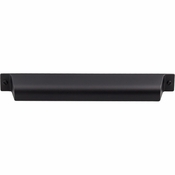 "Top Knobs - Barrington Collection - Channing Cup Pull 7"" (c-c) - Flat Black - TK775BLK"