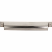 "Top Knobs - Barrington Collection - Channing Cup Pull 7"" (c-c) - Brushed Satin Nickel - TK775BSN"