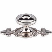 "Top Knobs - Britannia Collection - Canterbury Knob 1 1/4"" w/Backplate - Polished Nickel - M2136"