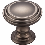 Top Knobs - Chareau Collection - Reeded Knob 1 1/2 Inch - Ash Gray - TK321AG