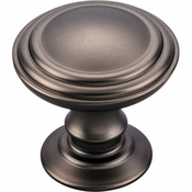 Top Knobs - Chareau Collection - Reeded Knob 1 1/4 Inch - Ash Gray - TK320AG