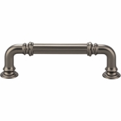 Top Knobs - Chareau Collection - Reeded Pull 3 3/4 Inch (c-c) - Ash Gray - TK322AG