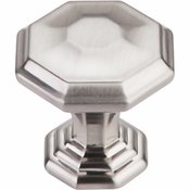 "Top Knobs - Chareau Collection - Chalet Knob 1 1/4"" - Brushed Satin Nickel - TK340BSN"