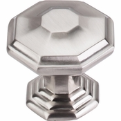 "Top Knobs - Chareau Collection - Chalet Knob 1 1/2"" - Brushed Satin Nickel - TK348BSN"