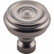 Top Knobs - Devon Collection - Brixton Button Knob 1 1/4 Inch - Ash Gray - TK882AG