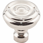 Top Knobs - Devon Collection - Brixton Button Knob 1 1/4 Inch - Polished Nickel - TK882PN