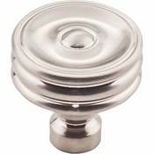 Top Knobs - Devon Collection - Brixton Ridged Knob 1 1/4 Inch - Brushed Satin Nickel - TK881BSN