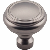 Top Knobs - Devon Collection - Brixton Rimmed Knob 1 1/4 Inch - Ash Gray - TK880AG