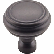 Top Knobs - Devon Collection - Brixton Rimmed Knob 1 1/4 Inch - Sable - TK880SAB