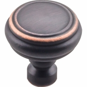 Top Knobs - Devon Collection - Brixton Rimmed Knob 1 1/4 Inch - Umbrio - TK880UM