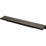 Top Knobs - Lynwood Collection - Crestview Tab Pull 10 Inch - Flat Black - TK974BLK