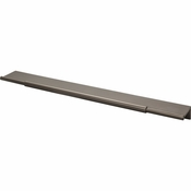 Top Knobs - Lynwood Collection - Crestview Tab Pull 12 Inch - Ash Gray - TK975AG