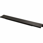 Top Knobs - Lynwood Collection - Crestview Tab Pull 12 Inch - Flat Black - TK975BLK