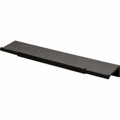 Top Knobs - Lynwood Collection - Crestview Tab Pull 8 Inch - Flat Black - TK973BLK