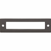 Top Knobs - Lynwood Collection - Hollin Backplate 3 3/4 Inch - Ash Gray - TK924AG