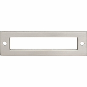 Top Knobs - Lynwood Collection - Hollin Backplate 3 3/4 Inch - Brushed Satin Nickel - TK924BSN