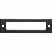 Top Knobs - Lynwood Collection - Hollin Backplate 3 3/4 Inch - Flat Black - TK924BLK