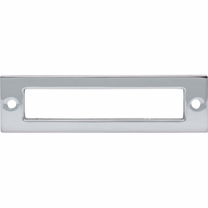 Top Knobs - Lynwood Collection - Hollin Backplate 3 3/4 Inch - Polished Chrome - TK924PC