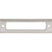 Top Knobs - Lynwood Collection - Hollin Backplate 3 3/4 Inch - Polished Nickel - TK924PN