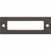 Top Knobs - Lynwood Collection - Hollin Backplate 3 Inch - Ash Gray - TK923AG
