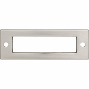 Top Knobs - Lynwood Collection - Hollin Backplate 3 Inch - Brushed Satin Nickel - TK923BSN