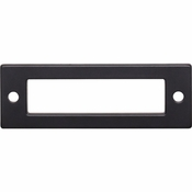 Top Knobs - Lynwood Collection - Hollin Backplate 3 Inch - Flat Black - TK923BLK