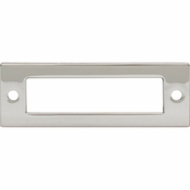 Top Knobs - Lynwood Collection - Hollin Backplate 3 Inch - Polished Nickel - TK923PN
